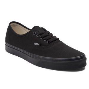 Vans Black Monochromatic Skate Shoe Women's Size 9